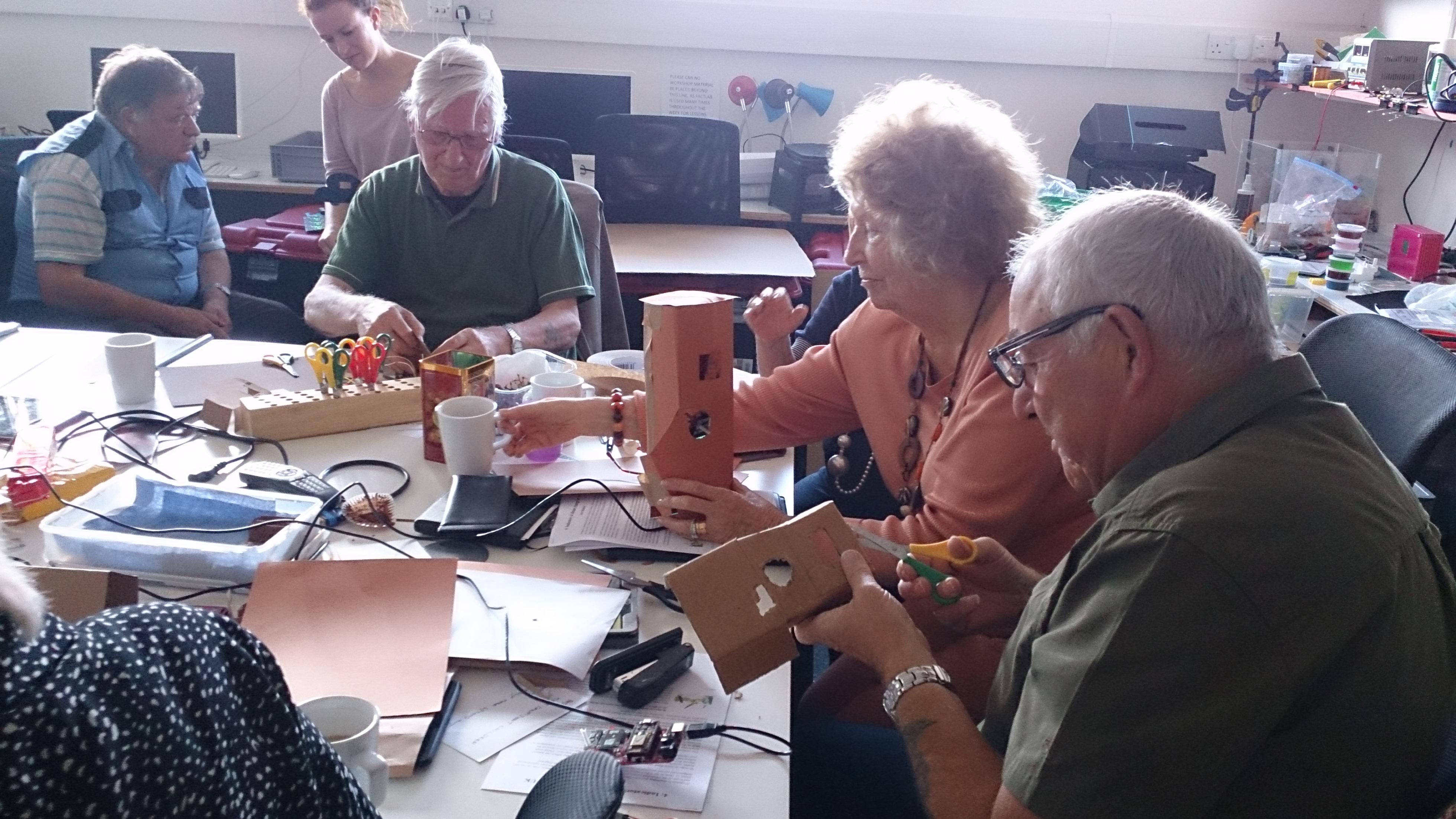 the digital ambassadors at FACT making mini prediction machines