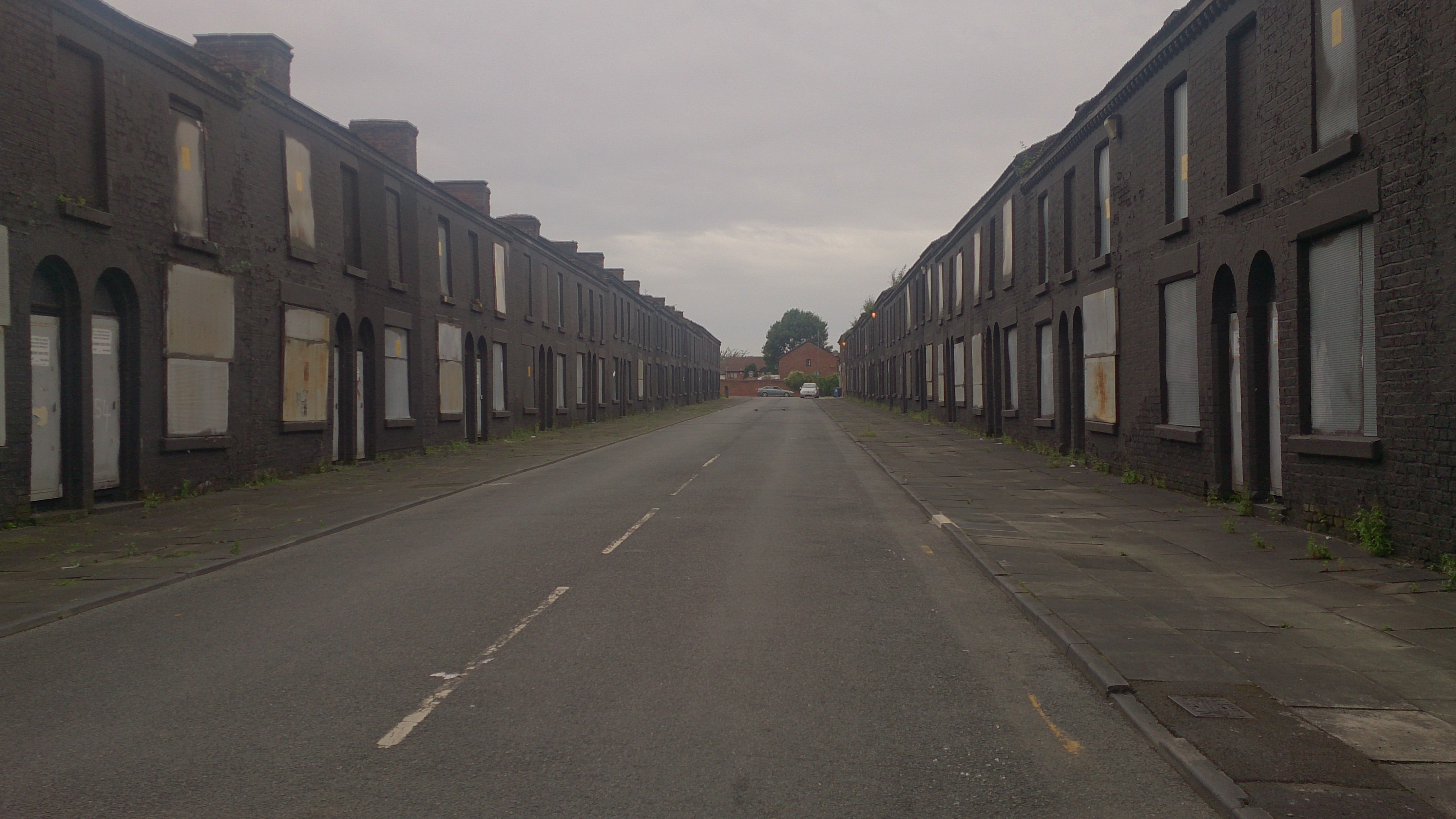 Boarded up houses in the Welsh Streets, Liverpool