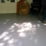 Rachel drawing around shadows in the studio