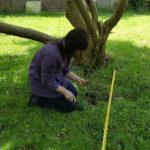 Rachel looking for the wooden watch