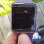 purple digital plastic watch