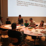 workshop participants sitting around tables at Nottingham Contemporary